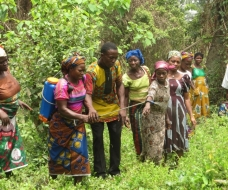 Training the rural women on modern agriculture