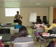 The Lift Saxum CEO delivers a training session on Ethics
