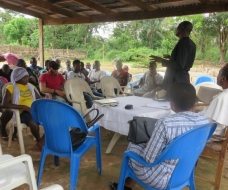 Focused Group Discussion with Oruku youths on Youth Community Entrepreneurship development